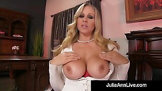 sexy video: Sexy Julia Ann gets nailed doggystyle by these cocks