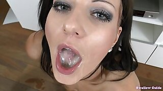 sexy video: Melody Cosmo swallows cum