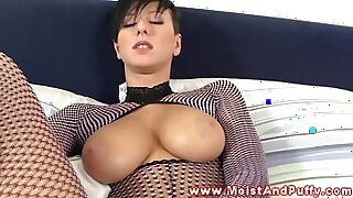sexy video: Busty solo babe pounded and ready to suck