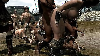 sexy video: Skyrim Girls in trouble