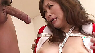 sexy video: MIlf bouned in threeway blowjob for this slut