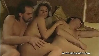 sexy video: Mom tries to entice her son into threesome action with her boyfriend