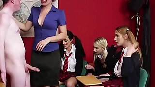 sexy video: Brit teacher sucks sub in front of students