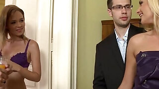 sexy video: Swinging euro housewives double penetration