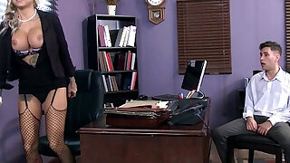 sexy video: Tatooed milf Britney Shannon takes charge