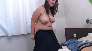 sexy video: Chubby bbw doggystyled after hot massage