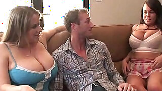 sexy video: Natural Busty Maggie Green Brandy Talore Get A Hard Cock!