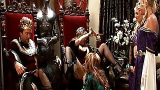 sexy video: King and queen have a medieval orgy with four hot whores