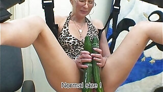 sexy video: Marcella with cucumber