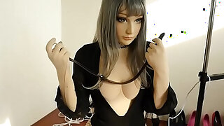 sexy video: Doll self bondage Breath paly Fainted