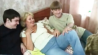 sexy video: Russian Mature Regina and Boys