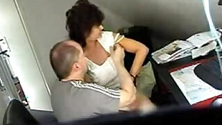sexy video: Video from hidden cam mature fucked by hard at office table