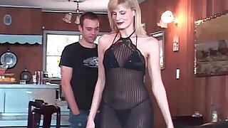 sexy video: Hot mature blonde lies down