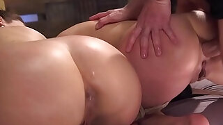 sexy video: Guy puts two babes in bondage anal sex
