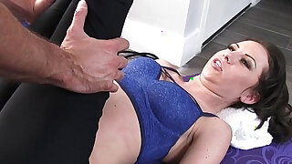 sexy video: Small titted athlete Kendra Khaleesi take cock