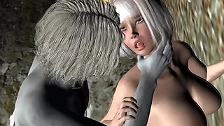 sexy video: Sexy 3D cartoon blonde babe loves getting fuckced by a zombie
