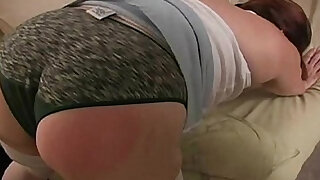 sexy video: Spanking the Bad BBW Amateur