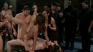 sexy video: Struggling girl overpowered, suspended, bound