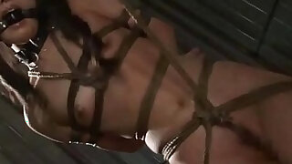 sexy video: Asian cunt Suzu Wakana gets bondage tortured and whipped like a whore