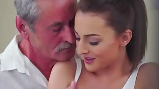 sexy video: Czech Katy Rose sucks off and old guy before riding cock