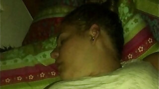 sexy video: Spying on my fat friend while she sleeps