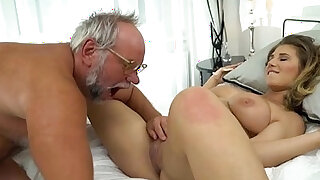 sexy video: 19 yo Aida Swinger pussy and ass eaten and banged by grandpa