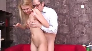 sexy video: Kinky teacher gets hold of blonde russian teen student