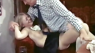 sexy video: Lucky dude fucked by super hot blonde maid Anna Magle in vintage porn