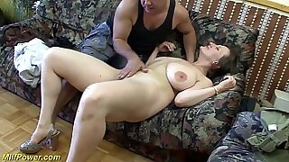 sexy video: Alexis Texas for busty german MILF sucking his big dick