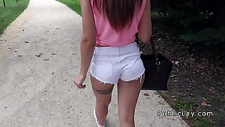 sexy video: Teen eurobabe Exhibitionism In Public
