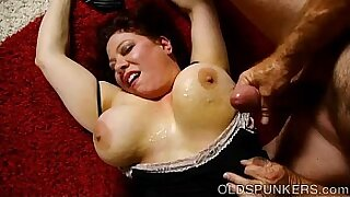 sexy video: Chubby big tits milf leaves home with her younger lover for some money